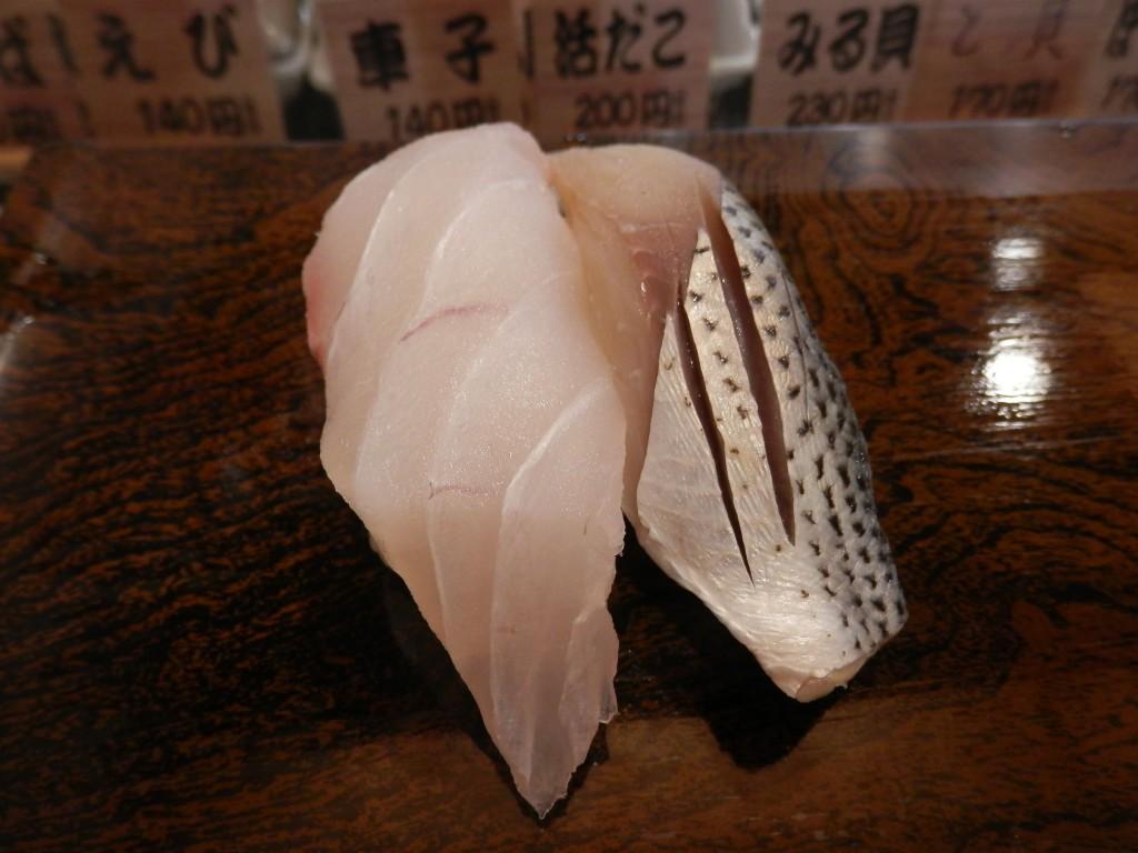 まぐろ人雷門出張所-真鯛(140円)、コハダ(140円)